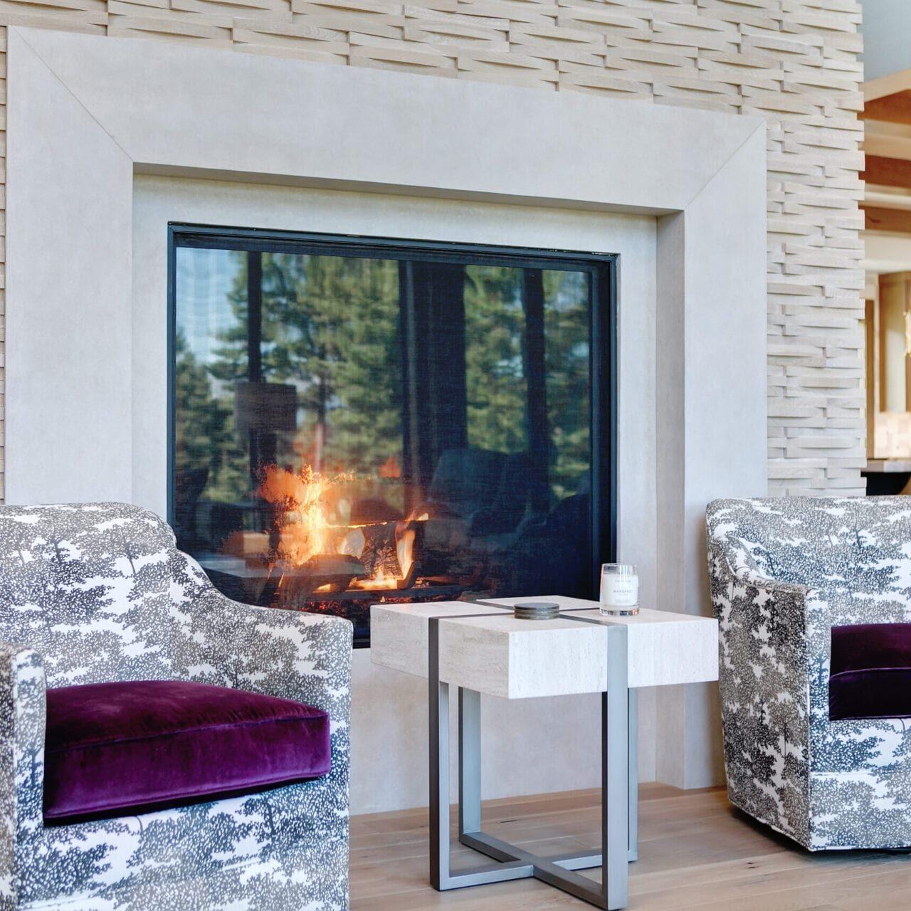 Moss fireplace